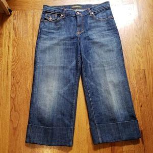 DAVID KAHN Wide Leg Women's Capri Cropped Jeans 10